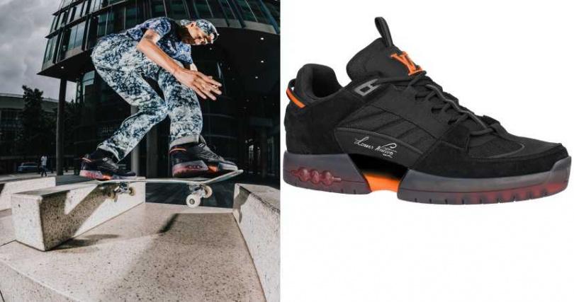 鮮明的配色讓人難忘,特殊反光細節讓夜間滑行更安全。Louis Vuitton A View 滑板鞋/39,300元(圖/品牌提供)