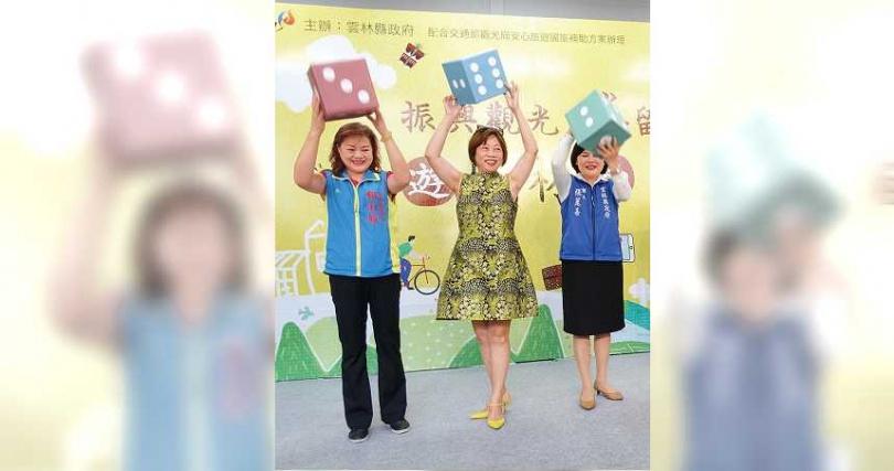 許舒博妻子、賴正鎰妹妹賴淑娞(左一),是連任三屆的現任國民黨籍雲林縣議員。圖為今年雲林縣振興觀光活動。