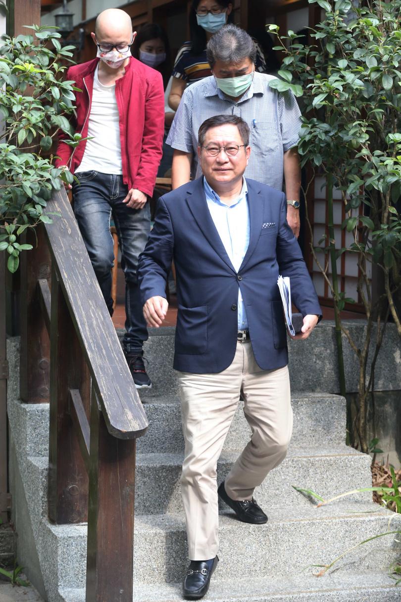 南港輪胎副董事長趙國帥,日前召開記者會說明南港投資泰豐輪胎的規劃。(圖/趙世勳攝)