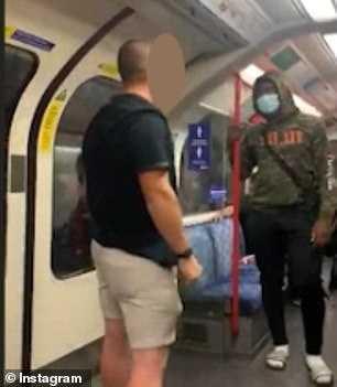 倫敦地鐵一名白人男子因種族歧視,嗆黑人乘客反遭對方打了一拳。(圖/翻攝自《每日郵報》)