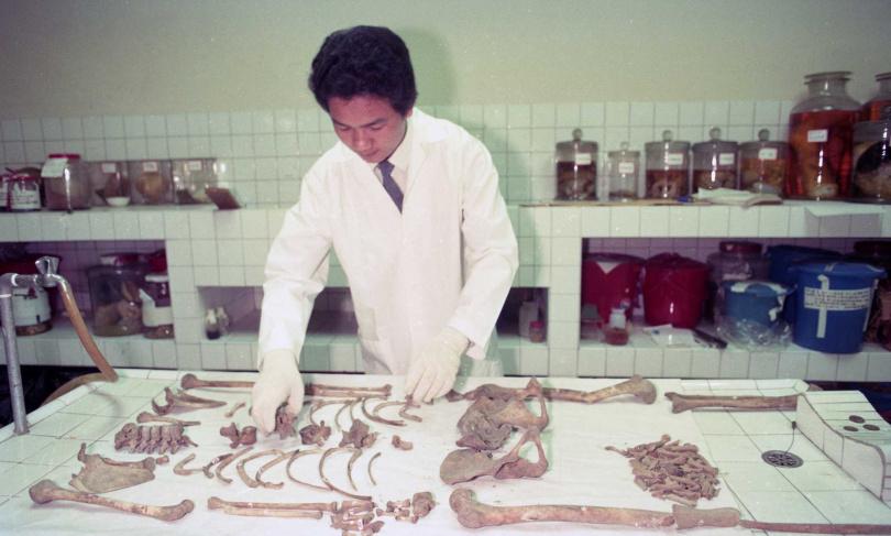 法醫利用骨骼長度、形狀等特徵,努力拼湊出死者身分。