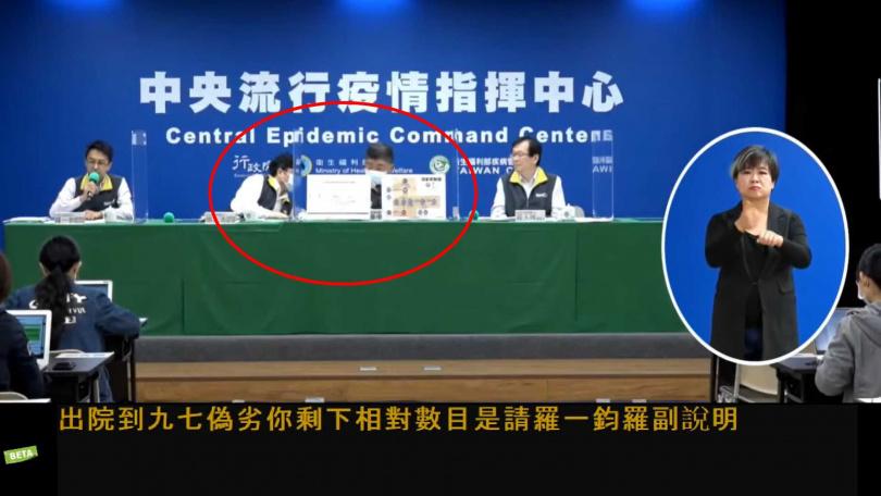 周志浩向陳時中表達要中途離席。(圖/衛生福利部疾病管制署YouTube)