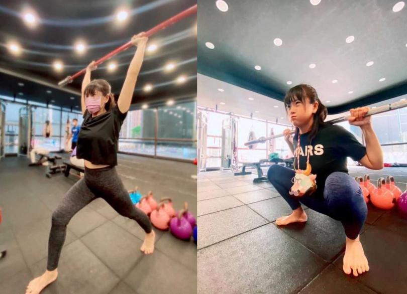 鄭孟洳靠運動瘦身。(圖/翻攝自鄭孟洳臉書)