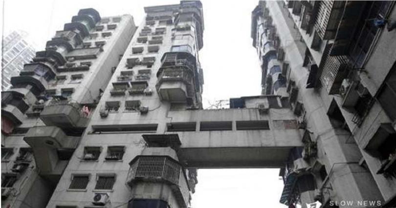 24層樓高的白象居共有6棟樓,但半部電梯都沒有。(圖/翻攝自網易新聞)