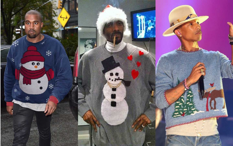 肯爺Kanye West、嘻哈教父Snoop Dogg、音樂製作人&品牌設計師Pharrell Williams。(圖/Pinterest、攝自Snoop Dogg推特、Getty Image)
