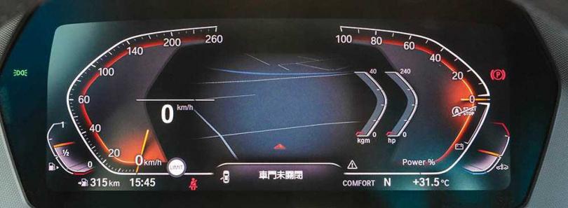 配備10.25吋的虛擬數位儀表板。(圖/馬景平攝)