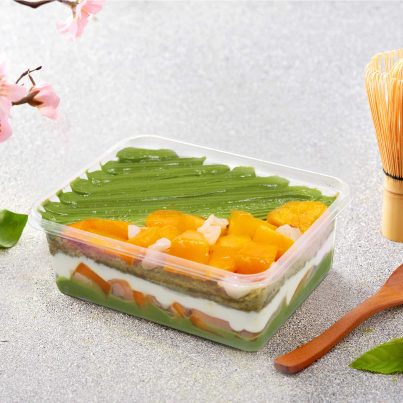 七見櫻堂「抹茶芒果荔枝甜點弁當」。(300元)