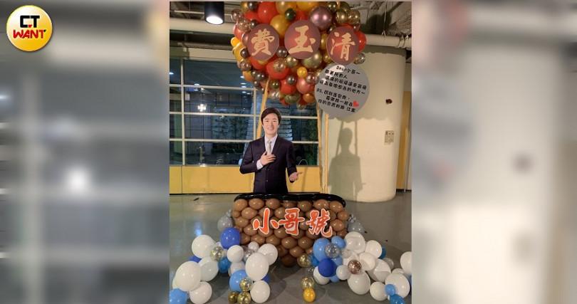 早一步封麥的好友江蕙,也送上熱氣球祝福費玉清。(圖/彭子桓攝)