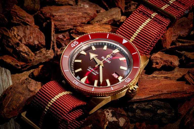 RADO「Captain Cook庫克船長」系列300米青銅腕錶,42mm,青銅錶殼,Calibre 763型自動上鏈機芯╱80,400元。(圖╱RADO提供)