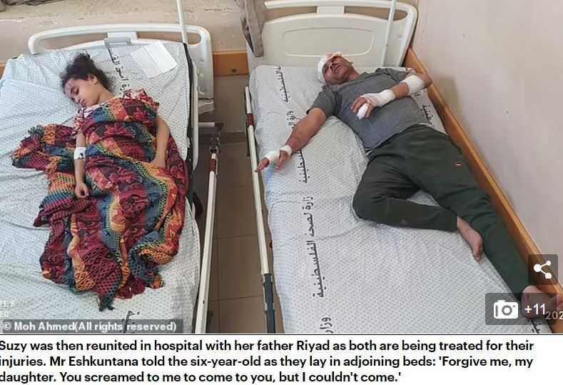 一家7口僅有女童與父親2人獲救。(圖/翻攝自Dailymail)