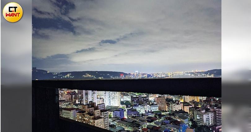 夜景實測:夜景實測的效果頗佳,遠方一棟棟的建築格放後都很清晰。(圖/戴嘉芬攝)
