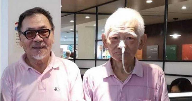 導演王童(左)與江文雄。(圖/摘自倪有純臉書)