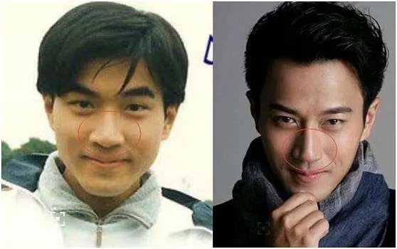 劉愷威以前和現在的長相對比。(圖/新浪娛樂)