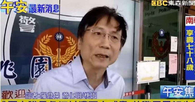 詹江村氣憤表示,該名男子在去年就已經恐嚇過自子。(圖/翻攝自東森新聞)