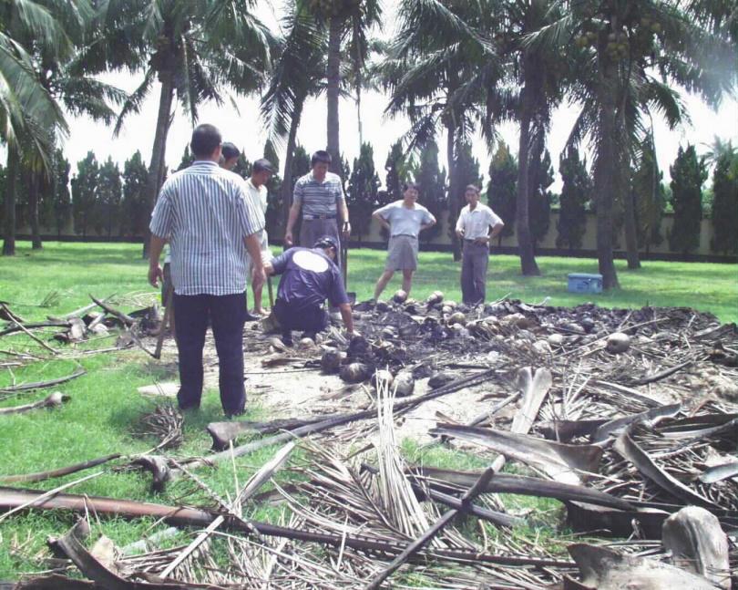 警方在洪若潭家中展開大規模搜索,卻未能找到3名子女的遺體。