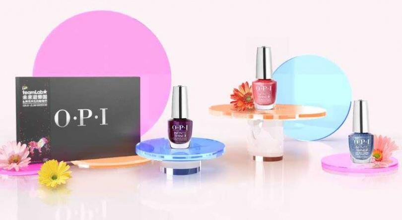 OPI teamLab絕美光影禮盒/1,440元  任選3入如膠似漆指甲油teamLab合作色。(圖/品牌提供)