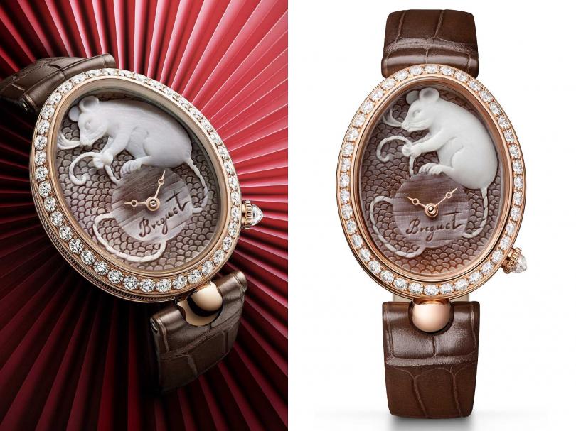 Breguet「Reine de Naples Cammea那不勒斯王后」系列,鼠年限量腕錶╱2,322,000元(圖片提供╱Breguet)