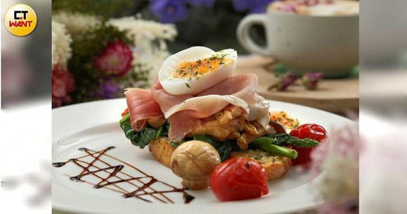 「夏日森林裡的早午餐」食材豐富,色彩也很繽紛。(300元) (攝影/于魯光)