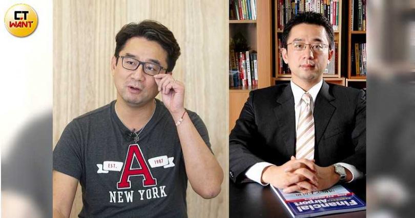 用心快樂社會企業創辦人趙士懿表示,自己以前雖然從事高薪的金融業(右)卻過得很不開心,情緒跟健康都出了問題。(圖/黃威彬攝、讀者提供)