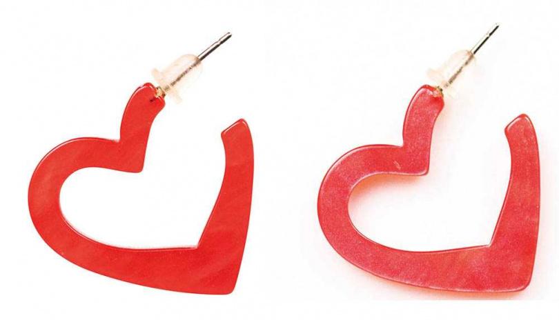 愛心耳環/約200元(圖/莊立人攝)