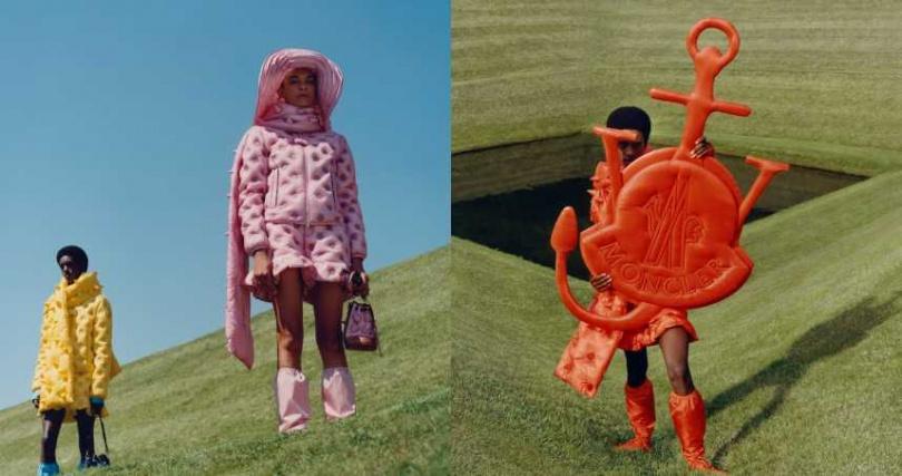 利用羽絨的蓬鬆感,創造出讓人意想不到的服裝形式。(圖/品牌提供)