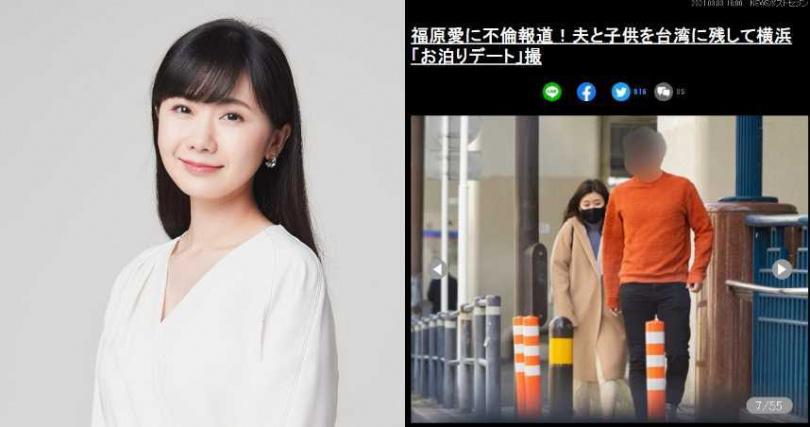 (合成圖/福原愛臉書、翻攝news-postseven)