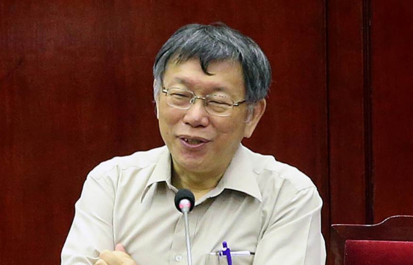 柯文哲認為郭台銘若要選總統,當時就選了,無需現在去找親民黨要門票。(圖/中時電子報)