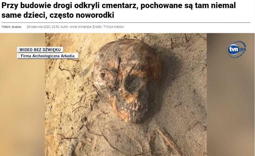 考古學家認為,此墓地可以追溯到16世紀!(圖/tvn24.pl)