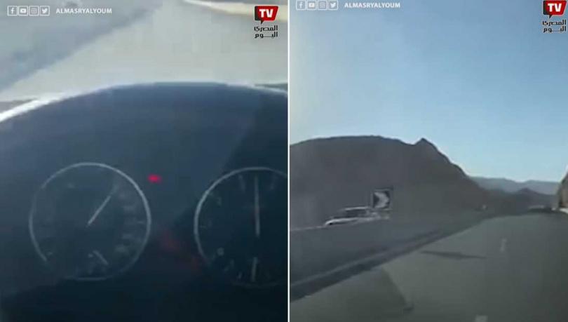 23歲的女孩以時速170公里逆向飆車。  (圖/翻攝自AlMasry AlYoum Youtube)