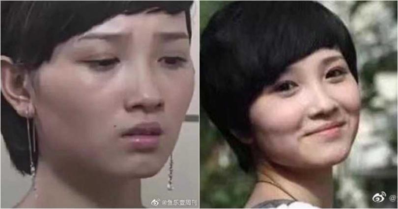 演出《如懿傳》的「惢心」陳小紜,以前的臉蛋比較不精緻。(圖/魚樂壹周刊微博)