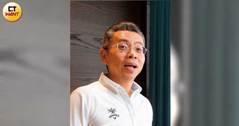 寶利達開發公司總經理鄭益群是滿林昌的客戶,2人考慮合作新的土地開發案。(圖/黃威彬攝)
