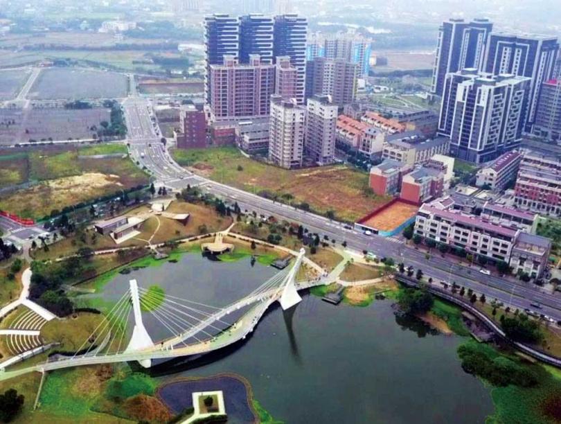 看準青埔是新興開發區,又有機捷與高鐵,滿林昌7年前在此開業扎根。(圖/翻攝自YouTube影片〈桃園青埔特區4K 1〉)