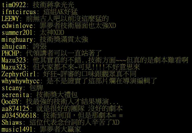 網民直接表示「罪夢者」差在劇本跟導演。(圖/翻攝自PTT)
