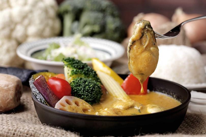 廣島牡蠣湯咖哩。(圖/泰迪農園咖哩提供)