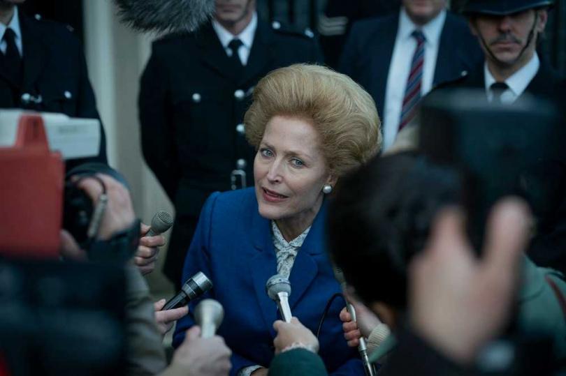 在《王冠》中飾演柴契爾夫人的吉莉安德森獲得最佳女配角。(圖/Netflix提供)