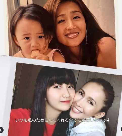 木村心美曬出一連串童年與媽媽的合照。(圖/翻攝自IG/cocomi_553_official)