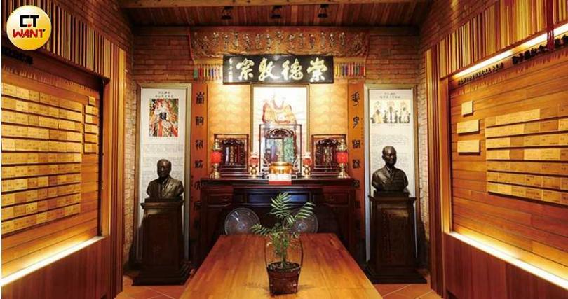 郭氏宗親尊唐朝名將郭子儀為祖先代表,郭子儀紀念館2樓供奉郭氏宗祠,也是宗親開會的場所。(圖/趙世勳攝)