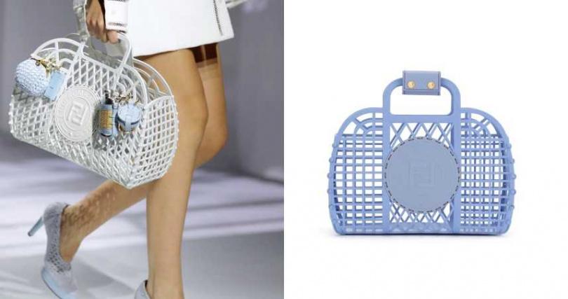 在包身上加入 Nano 吊飾、Pico 吊飾及 Strap You 肩帶,就能將 Basket 包款打造成專屬風格。FENDI Small Basket 造型包款/20,500元(圖/品牌提供)