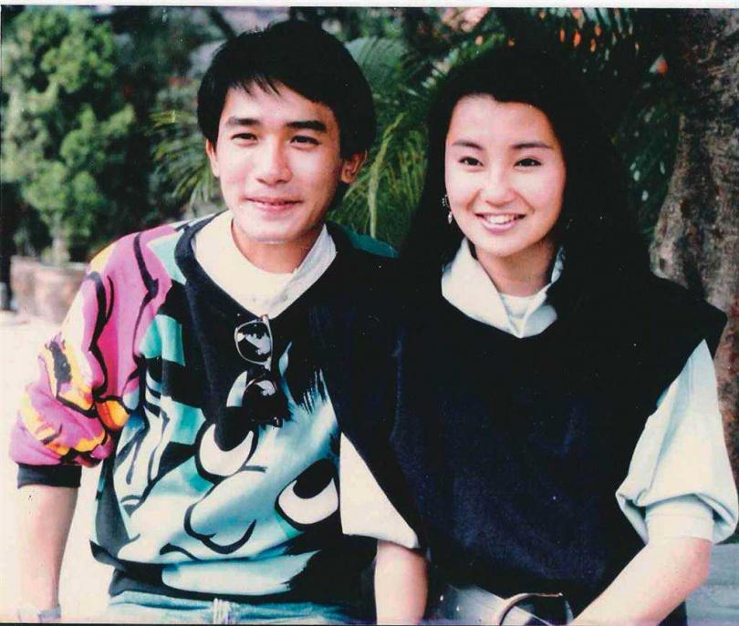 梁朝偉和張曼玉1984年合作《新紮師兄》。(圖/報系資料照)