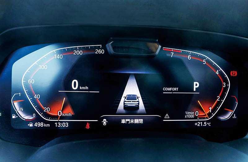 12.3吋的數位儀表板,導航、路況等資訊都一目了然。(圖/王永泰攝)