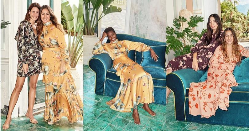 Johanna Ortiz X H&M聯名系列用絢麗繽紛印花打造清新造型。(圖/H&M)