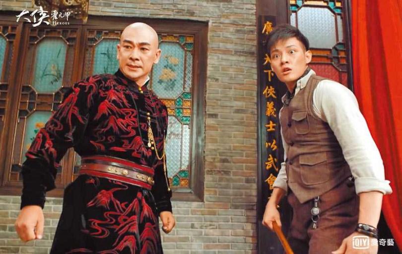 寇家瑞(右)首次和趙文卓合拍戲,感到開心又幸運。(圖/愛奇藝台灣站提供)