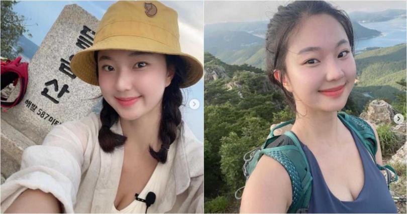 有網友搜出,一名來自韓國的正妹,撞臉年輕時的冰冰姐(圖/翻攝IG)
