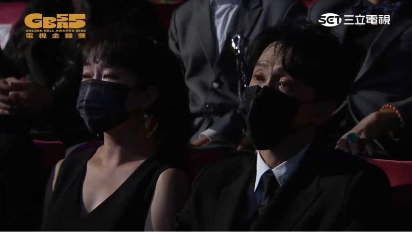 陳漢典和巴鈺也是紅了眼眶。(圖/翻攝自廣播電視金鐘獎 Youtube)
