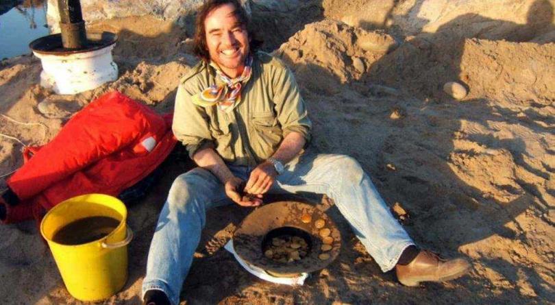 納米比亞發現16世紀沉船遺骸。(圖/翻攝自推特@WhiteRabbit36)
