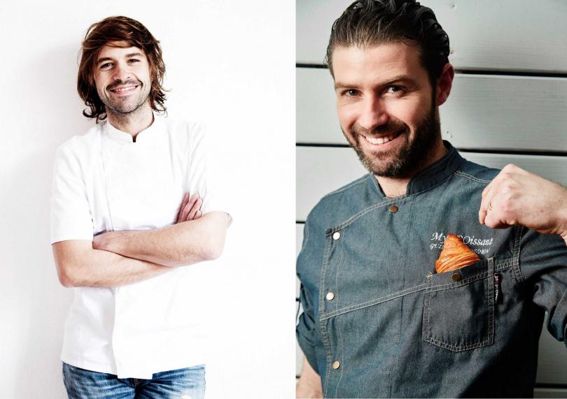 Gontran Cherrier GC創辦人Gontran Cherrier(左)、MyCROissant by Guillaume吉可頌丹麥專賣店創辦人吉雍佩登(右)。