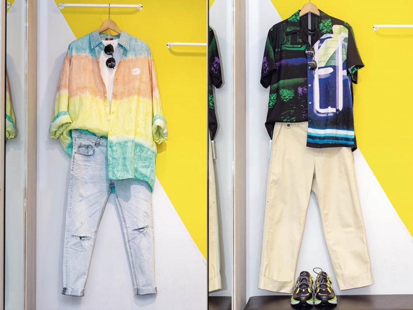 今夏的流行元素,夏和熙首推螢光色系和印花襯衫。(圖/焦正德攝)
