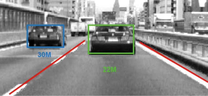 SUBARU最引以為傲的EyeSight系統,在擋風玻璃上方有三顆感測器,判斷路況更為準確。(圖/翻攝畫面)