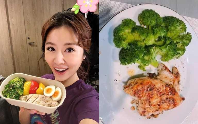 林心如的減肥菜單,是以煮了之後不會縮水的花椰菜來當主要配菜,在份量的控制上很足夠。(圖/翻攝網路)