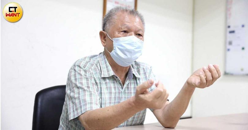 泰山創辦家族二代詹仁烟,於泰山服務至退休,對於泰山感情相當深厚。(圖/王永泰攝)